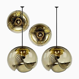 Sconces & Pendant Lamps by Koch & Lowy, 1970s, Set of 4