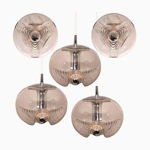 Wandlampen & Hängelampen von Koch & Lowy, 1970er, 5er Set
