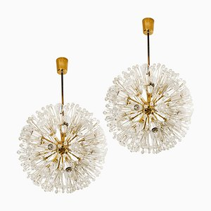 Austrian Snowball Orbit Sputnik Chandeliers by Emil Stejnar, 1950s, Set of 2