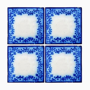 French Ceramic Tiles by Pas De Calais Desvres by Desvres, 1850s, Set of 35