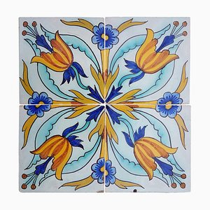Antique French Ceramic Tile by Devres, 1910s