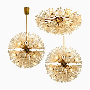Austrian Snowball Orbit Sputnik Chandeliers by Emil Stejnar, 1950s, Set of 3