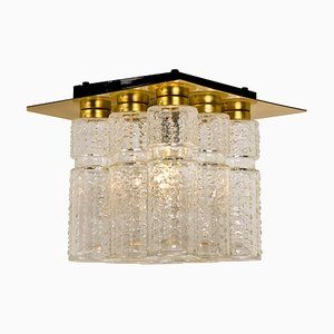 Flush Mount Chandelier by Boris Tabacoff for Limburg Glashutte, 1970s