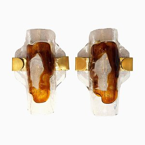 Hand Blown Murano Glass Sconces by J.T. Kalmar, 1970s, Set of 2