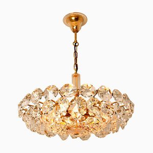 Brass and Crystal Glass Chandelier by Bakalowits & Sohne, 1960s