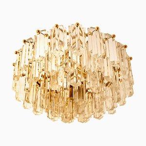 Deckenlampe aus vergoldetem Messing & Glas von JT Kalmar, 1970er