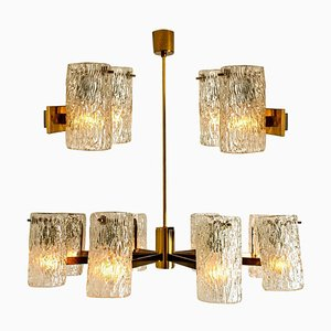 Bubble Glass Sconces or Wall Sconces by Hillebrand, 1960s, Set of 3