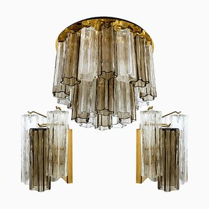 Austrian Murano Glass Ceiling Lamps by J.T. Kalmar, 1960s, Set of 3
