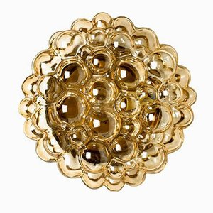 Amber Glass Wall Light by Helena Tynell, 1960s