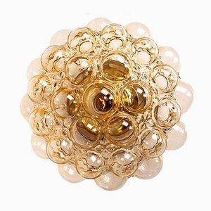 Bernsteingelbe Bubble Wandlampe von Helena Tynell, 1960er