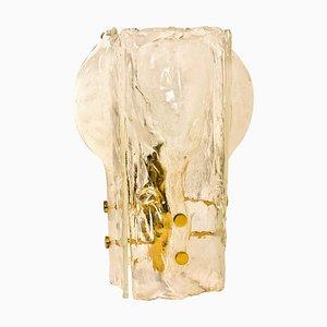4-Petal Eiszapfen Blumen & Schmelzglas Tischlampe von JT Kalmar, 1960er