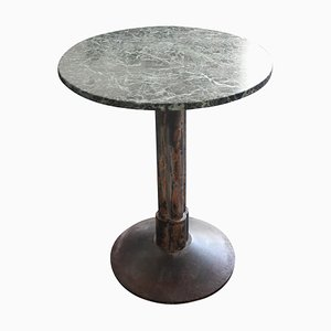Cast Iron and Marble Top Coffee Table, 1920s