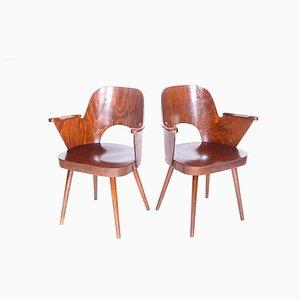 Holzstühle von Oswald Haerdtl, 1960er, 2er Set