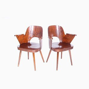 Wooden Armchairs by Oswald Haerdtl, 1960s, Set of 2