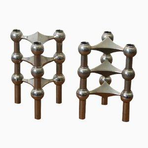 Modulare Kerzenhalter von Nagel, 1970er, 6er Set