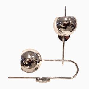 Italian Chrome Sconces Attributed to Gino Sarfatti, 1970s, Set of 2