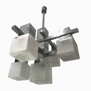 Chrome Chandelier by Gaetano Sciolari, 1970s