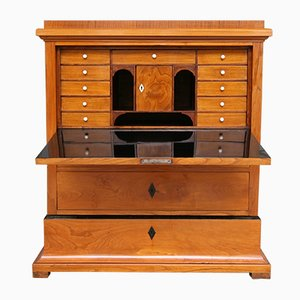 Biedermeier Swedish Cherry Wood Veneer Secretaire