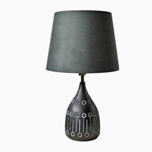 Lampe de Bureau Vintage Anthracite en Céramique de Uno Linder, 1960s