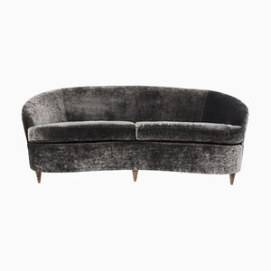 Geschwungenes italienisches Vintage Sofa, 1950er