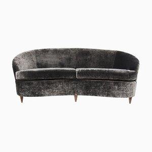 Vintage Italian Curved Sofa, 1950s