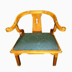 Mid-Century Oriental Style Fruitwood Armchair