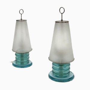 Tischlampen von Pietro Chiesa für Fontana Arte, 1970er, 2er Set