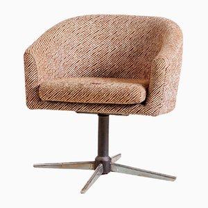 Chaise Pivotante Vintage à Rayures, 1970s