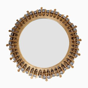 Mid-Century Illuminated Sunburst Mirror from Palwa, 1960s