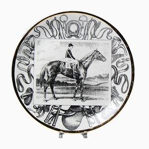 Large Mid-Century Italian Grandi Campioni Plates by Atelier Fornasetti for fornasetti, Set of 6