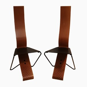 Dining Chairs in the Style of Kisho Kurokawa, 1980s, Set of 2