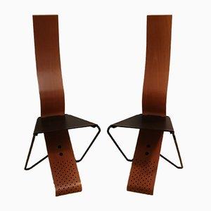 Esszimmerstühle im Stil von Kisho Kurokawa, 1980er, 2er Set
