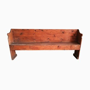Italian Solid Spruce Bench, 1800s