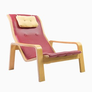 Mid-Century Model Pulkka Lounge Chair by Ilmari Lappalainen for Asko