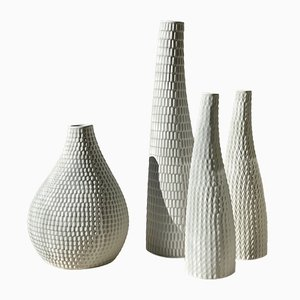 Ceramic Reptile Vases by Stig Lindberg for Gustavsberg, 1953, Set of 4