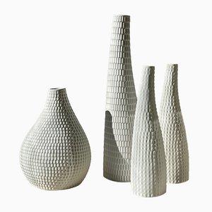 Keramik Reptile Vasen von Stig Lindberg für Gustavsberg, 1953, 4er Set