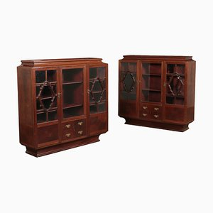 Art Deco Sideboards, 1940s, Set of 2