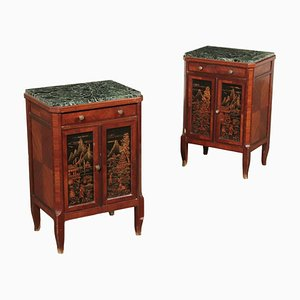 Rosewood Nightstands, 1930s, Set of 2