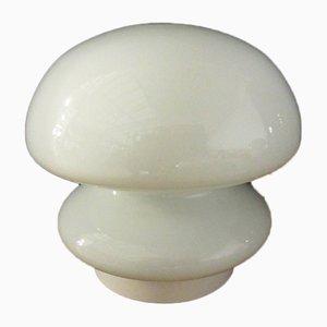 Weiße Italienische Vintage Space Age Tischlampen aus Muranoglas, 2er Set