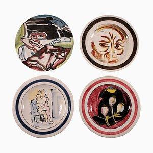 Dekorative Teller von Rossicone, 1960er, 4er Set
