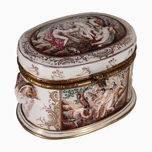 Vintage Decorative Box from Capodimonte, 1920s