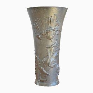 Jugendstil Vase von Hugo Leven für Kayserzinn, 1900er