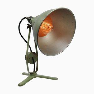 Industrielle Vintage Schreibtischlampe aus Grünem Metall & Bakelit