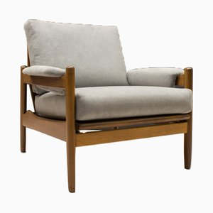Mid-Century Adjustable Wooden Armchair, 1960s