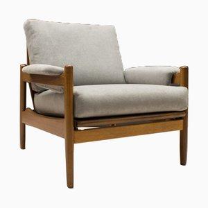 Verstellbarer Mid-Century Armlehnstuhl aus Holz, 1960er