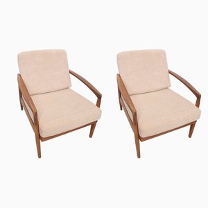 Mid-Century Danish Teak Lounge Chairs, 1960s, Set of 2