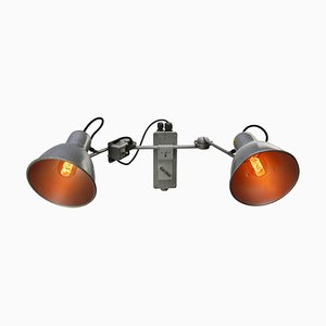 Vintage Grey Aluminum & Metal Photography Wall Light
