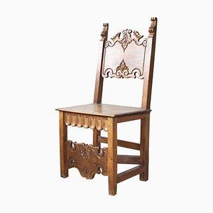 Antiker Nussholz Stuhl