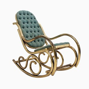 Brass Rocking Chair from Thonet, 1940s