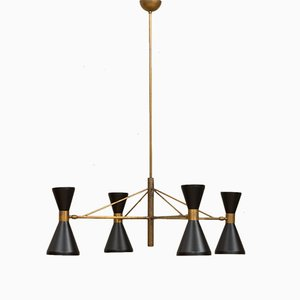 Mid-Century Italian Chandelier in the Style of Stilnovo